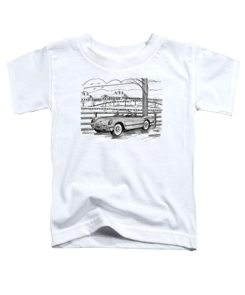 1953 Chevrolet Corvette Toddler T-Shirt