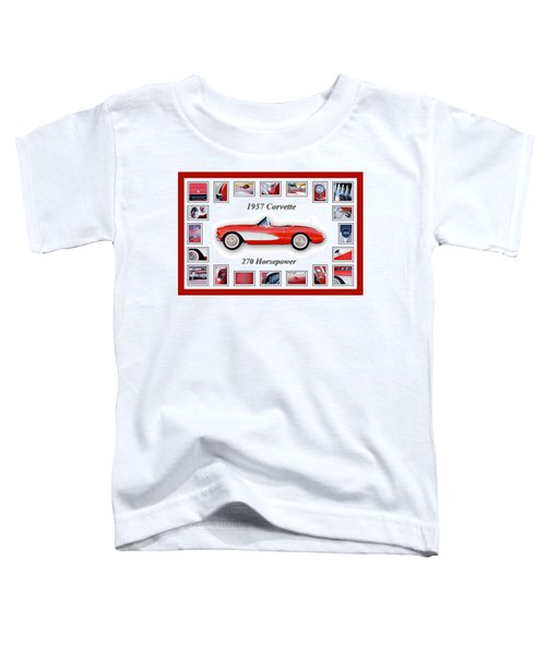 1957 Chevrolet Corvette Art Toddler T-Shirt