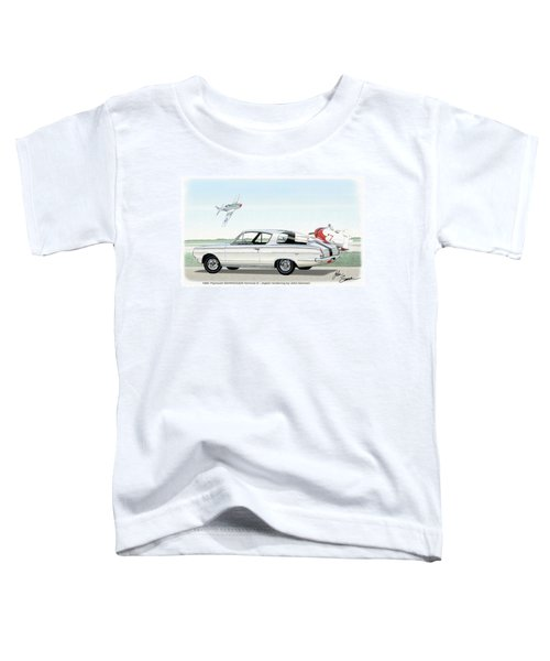 1965 Barracuda  Classic Plymouth Muscle Car Toddler T-Shirt by John Samsen