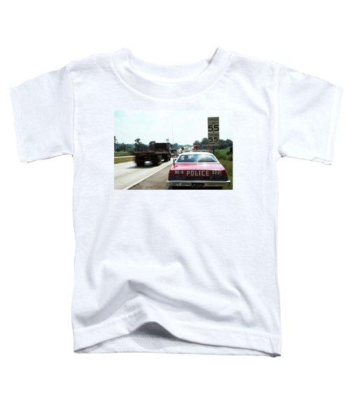 1970s Police Car With Radar Gun Toddler T-Shirt