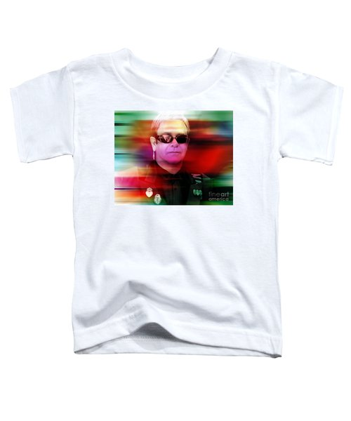 Elton John Toddler T-Shirt by Marvin Blaine