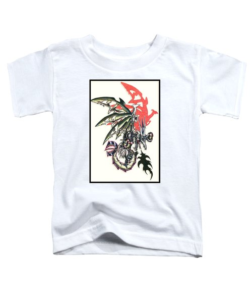 Toddler T-Shirt featuring the painting Mech Dragon Tattoo by Shawn Dall