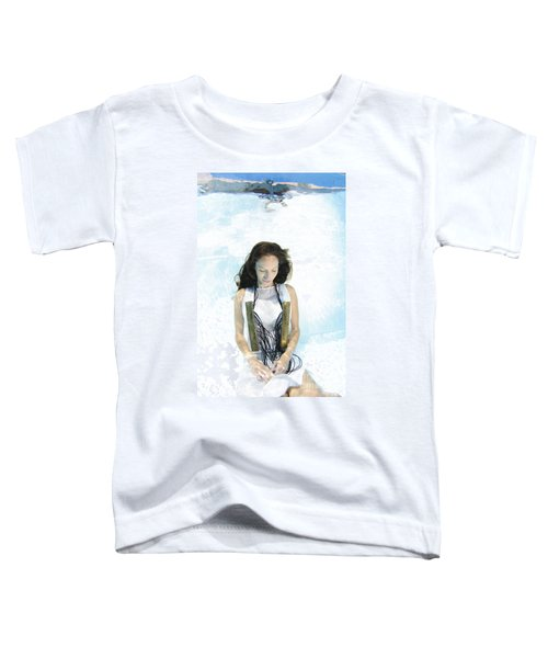 Woman Floats Underwater  Toddler T-Shirt
