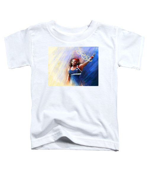 2012 Tennis Olympics Gold Medal Serena Williams Toddler T-Shirt