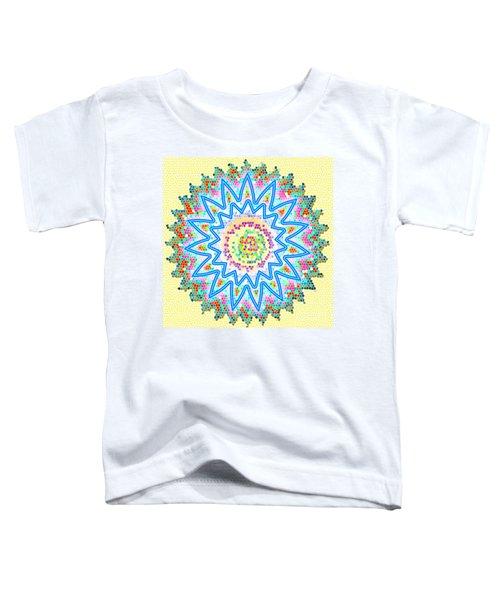 Colorful Signature Art Chakra Round Mandala By Navinjoshi At Fineartamerica.com Rare Fineart Images  Toddler T-Shirt by Navin Joshi