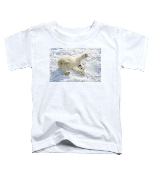 Polar Bear Cub Playing In Snow Alaska Toddler T-Shirt