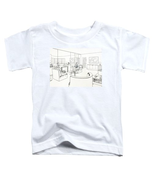 Moderne Man Cave Toddler T-Shirt