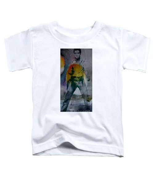 Toddler T-Shirt featuring the mixed media Elvis by Marvin Blaine