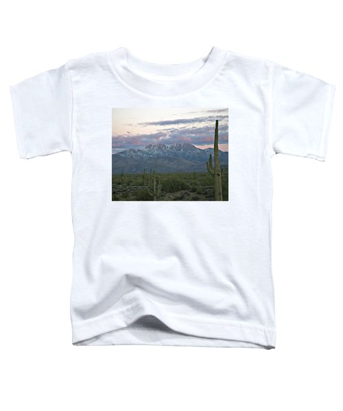 Four Peaks Sunset Snow Toddler T-Shirt