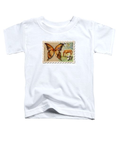7 Cent Butterfly Stamp Toddler T-Shirt by Amy Kirkpatrick