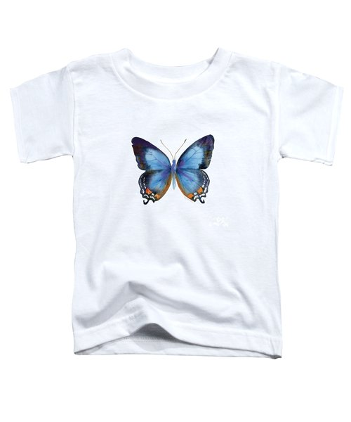 80 Imperial Blue Butterfly Toddler T-Shirt