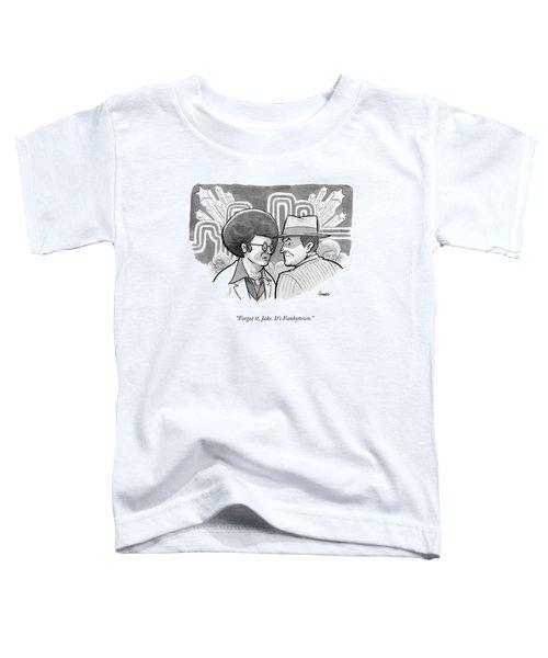 A 70's Disco Man Speaks To Jack Nicholson's Toddler T-Shirt by Benjamin Schwartz