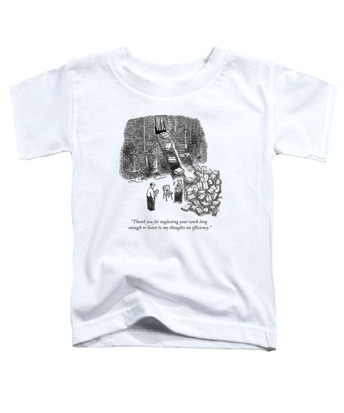 A A Foreman Speaks To A Warehouse Worker Toddler T-Shirt