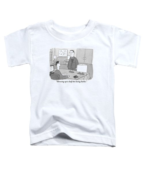 A Boss Sitting At His Desk Speaks To An Employee Toddler T-Shirt