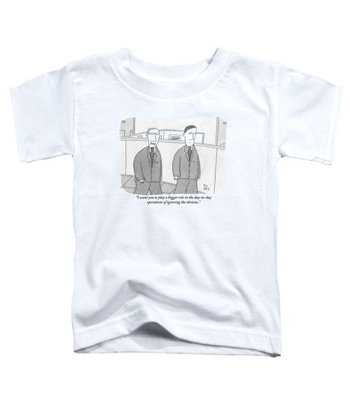 A Boss Speaks To His Employee In The Office Toddler T-Shirt
