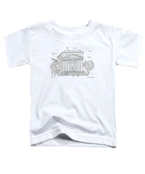 A Building In Washington Dc Is Shown Toddler T-Shirt