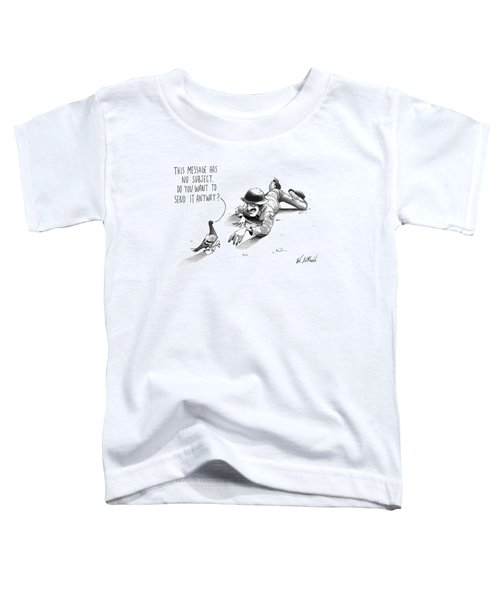 A Carrier Pigeon Holds A Rolled Up Message Toddler T-Shirt