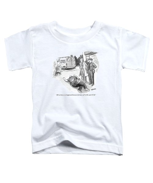A Cop And A Detective Stand Over The Face-down Toddler T-Shirt