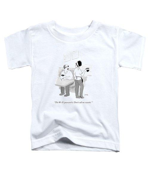A Diner Waitress Talking To A Patron Toddler T-Shirt