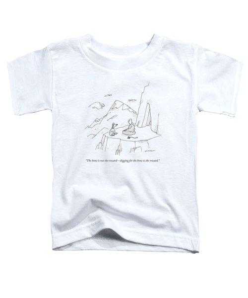 A Dog Speaks To A Guru On Top Of A Mountain Toddler T-Shirt