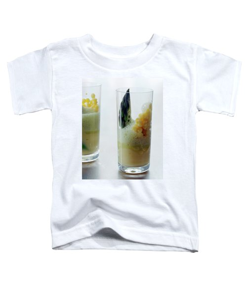 A Drink With Asparagus Toddler T-Shirt by Romulo Yanes