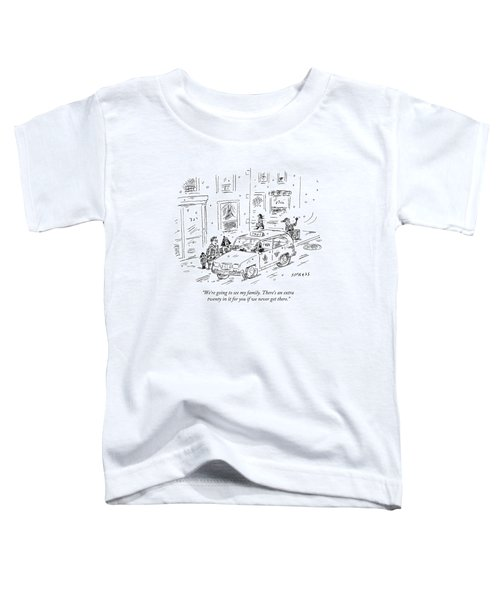 A Family Talks To A Taxi Driver Before Getting Toddler T-Shirt