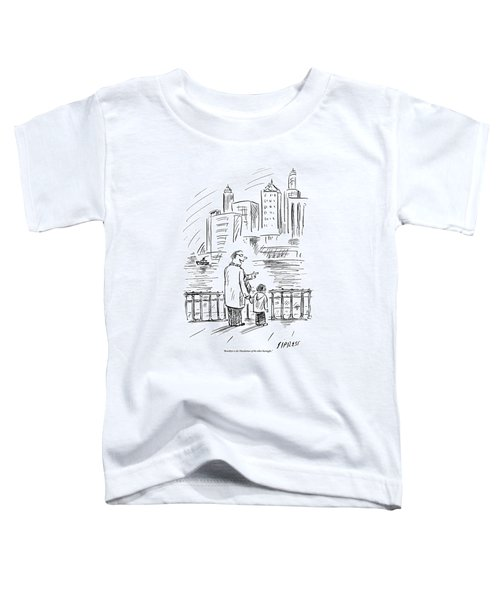 A Father And Son In Brooklyn Look Toddler T-Shirt