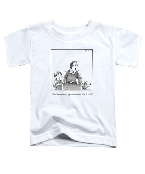 A Father, Son, And Dog All Worry At The Sight Toddler T-Shirt
