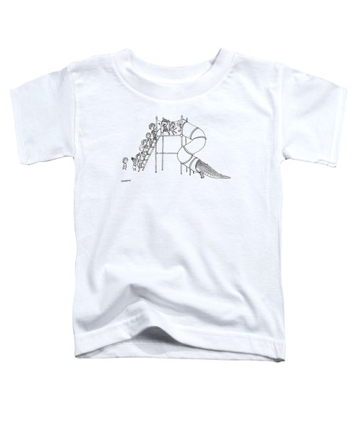 A Group Of Children Are Lined Up To Go Toddler T-Shirt