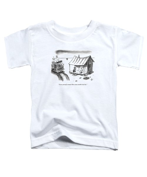 A Hillbilly And His Naked Wife Sit On A Porch Toddler T-Shirt