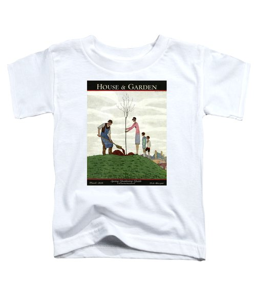 A House And Garden Cover Of People Planting Toddler T-Shirt
