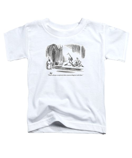 A Knight Is Chasing The King Down The Royal Toddler T-Shirt