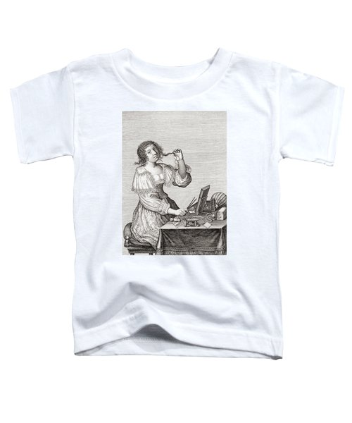 A Lady At Her Toilette, After A 17th Century Engraving By Le Blond.  From Illustrierte Toddler T-Shirt