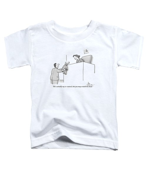 A Lawyer Is Seen Holding A Dog In A Suit Toddler T-Shirt