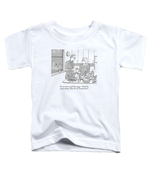 A Man And Wife Stand In The Kitchen Toddler T-Shirt