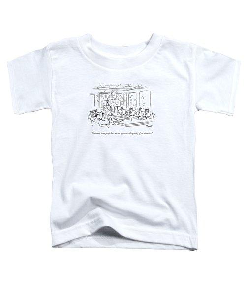 A Man Blow Bubbles At A Meeting Toddler T-Shirt