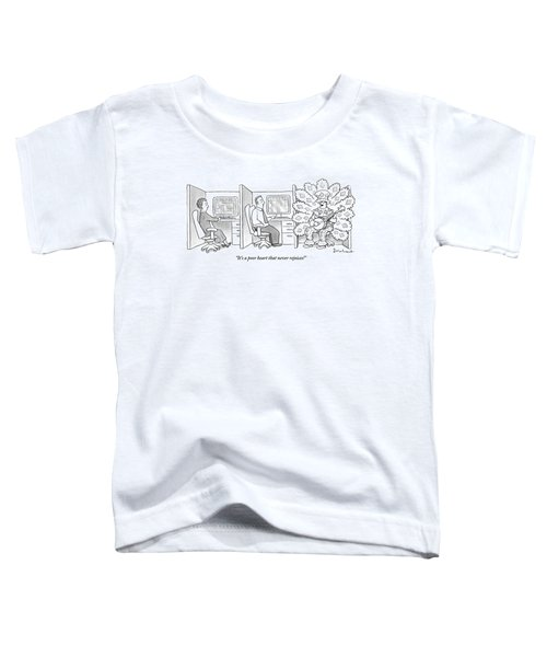 A Man In A Huge Toddler T-Shirt