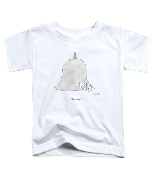 A Man Opening The Door To A Giant Bell House Toddler T-Shirt