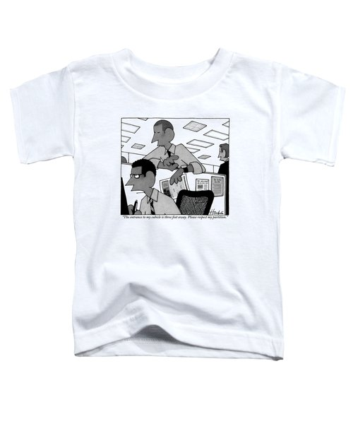 A Man Peers Over The Top Of Another Man's Office Toddler T-Shirt