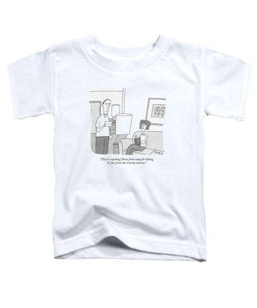 A Man Reads A Letter Aloud To His Wife Toddler T-Shirt