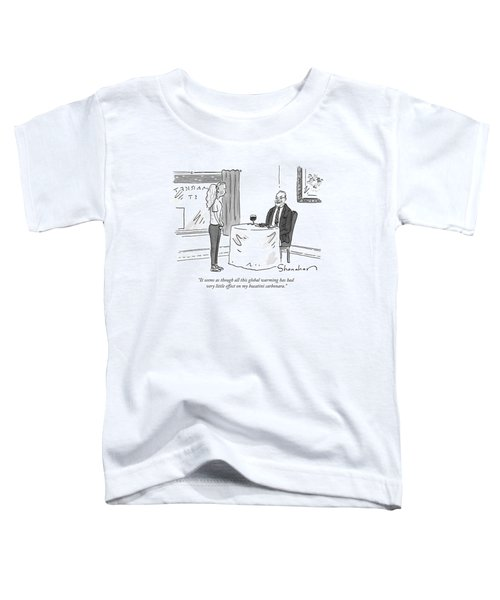 A Man Speaks To A Waitress Toddler T-Shirt