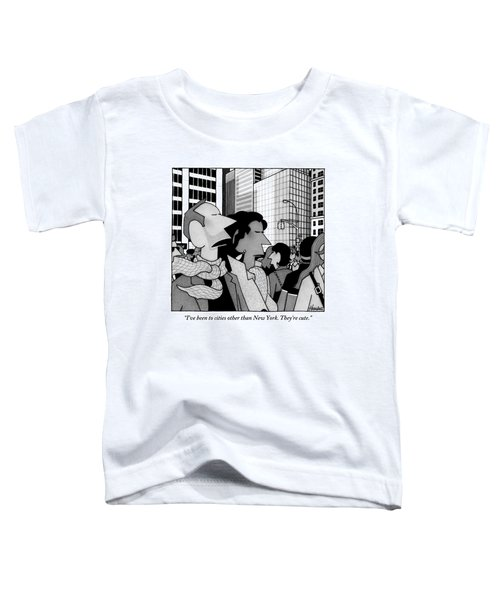 A Man Speaks To His Wife In The Midst Of New York Toddler T-Shirt