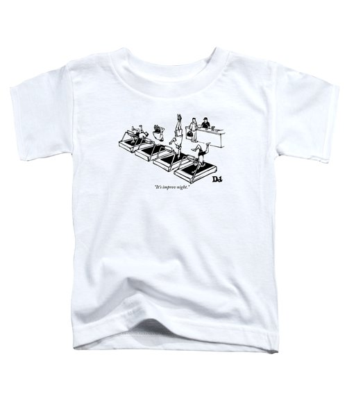 A Man Stands At The Desk Of A Gym. Four People Toddler T-Shirt