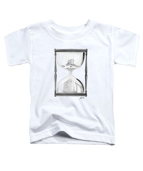A Man Stands In The Top Half Of An Hourglass Toddler T-Shirt