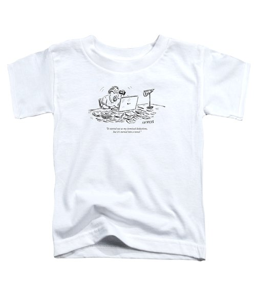 A Man Talking On The Phone Toddler T-Shirt