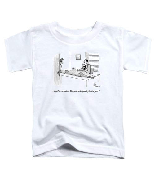 A Man Touches The Belly Of A Crocodile Toddler T-Shirt