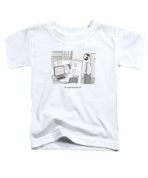 A Man With A Ridiculous Mustache Speaks Toddler T-Shirt