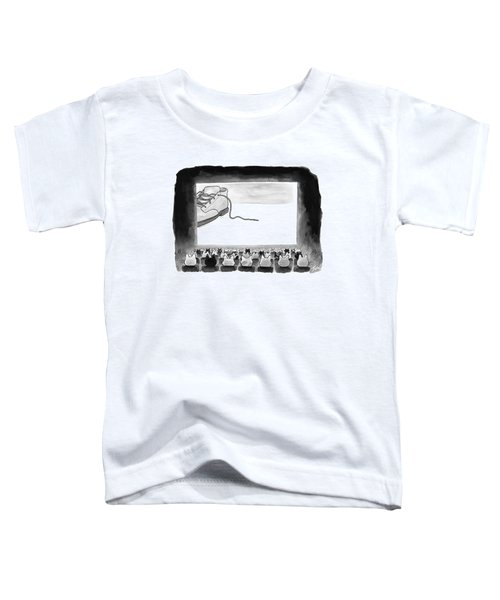 A Movie Theater Audience Of All Cats Watches Toddler T-Shirt