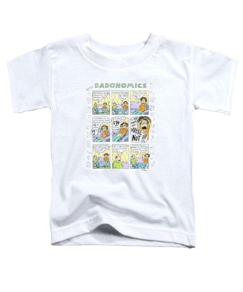 A Nine-panel Cartoon Shows A Daughter Toddler T-Shirt