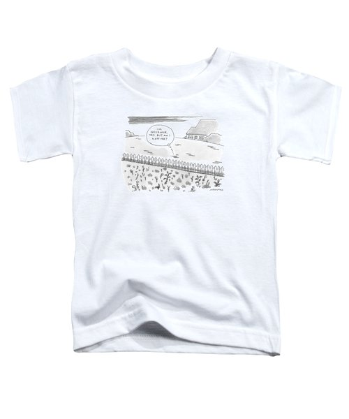 A Plot Of Grass Is Seen To Reflect As It Sits Toddler T-Shirt